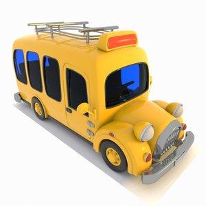 minibus bus toon 3ds