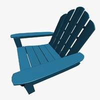 adirondack chair 3d max
