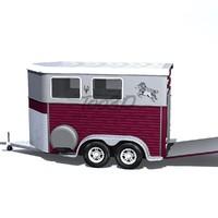 3d model of trailer horses