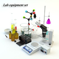 lab equipment set 3d max