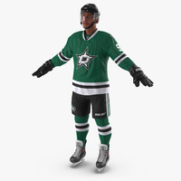 3d hockey player stars model