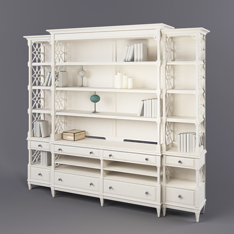 stanley furniture media bookcase max