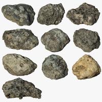 3d model scan rock