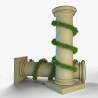 Column With Tinsel Around