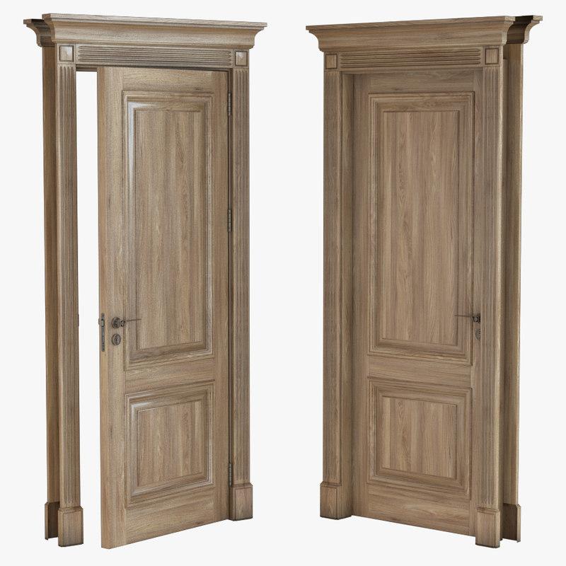 classic door single 3d 3ds