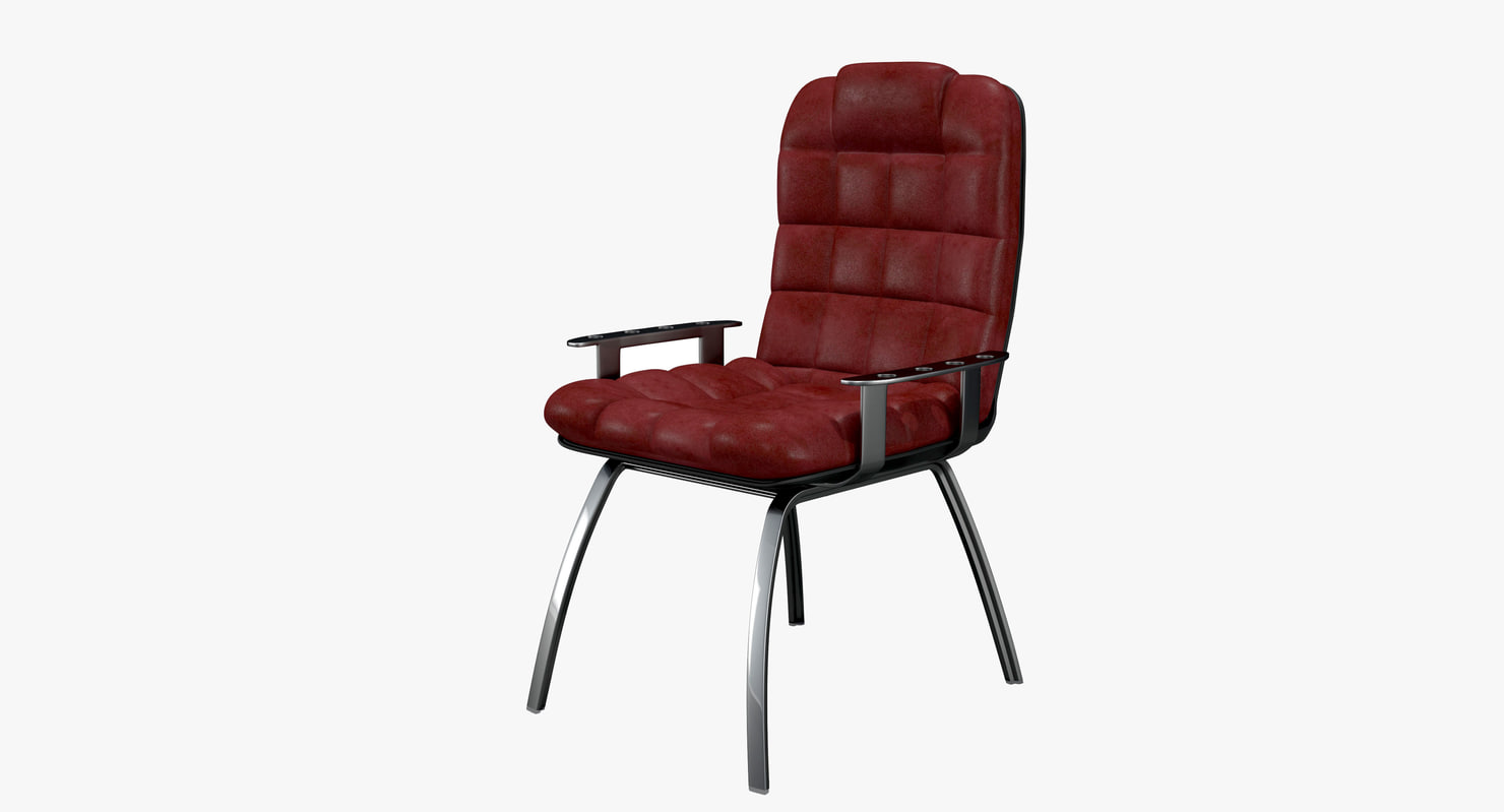 armchair leather 3d max