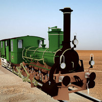 steam train engine 3d model