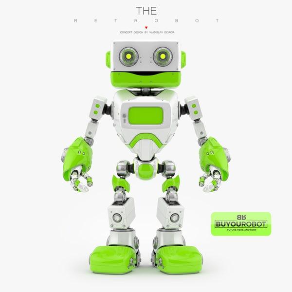 friendly retro robot max