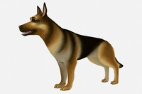german shepherd obj