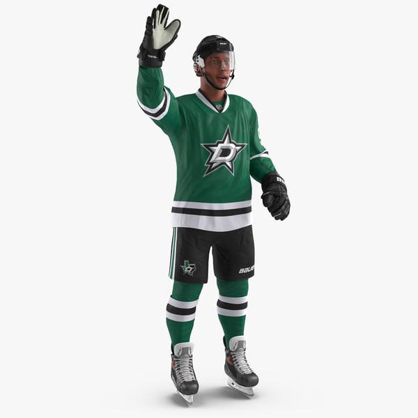 hockey player stars rigged 3d model