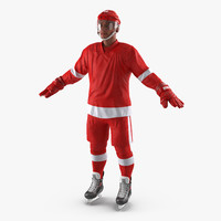 3d model hockey player generic 2