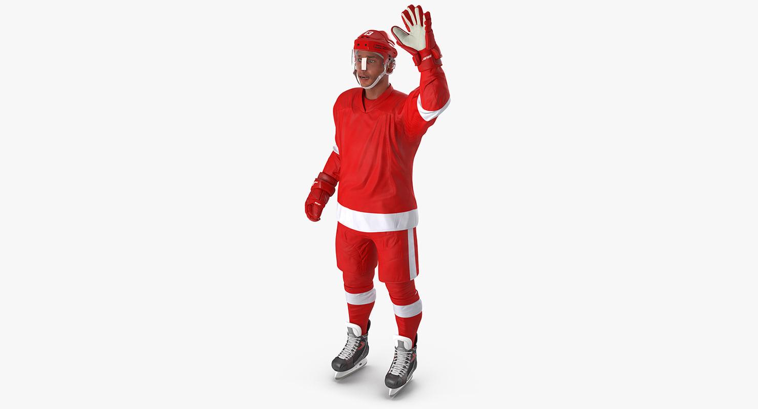 hockey player generic 2 3d max