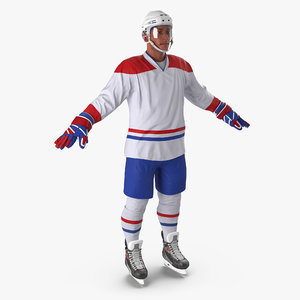 hockey player generic 5 3d model
