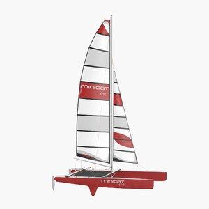 international class catamaran 3d 3ds