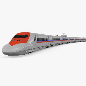 3d model speed train generic 2