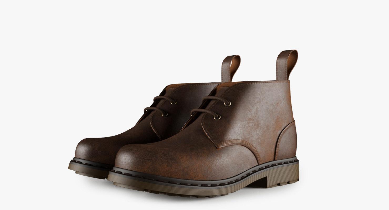 3d model men ankle boots