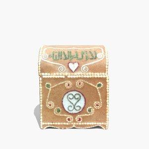 3d model real treasure chest