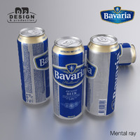 beer bavaria 3d model