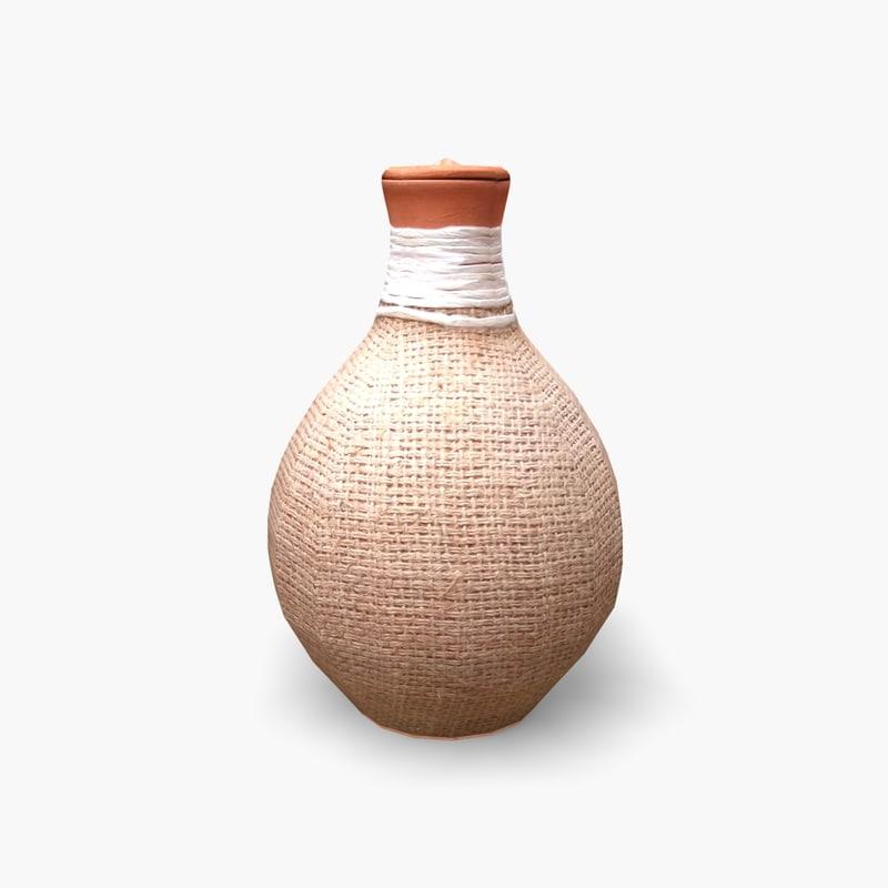 3d model jar clay