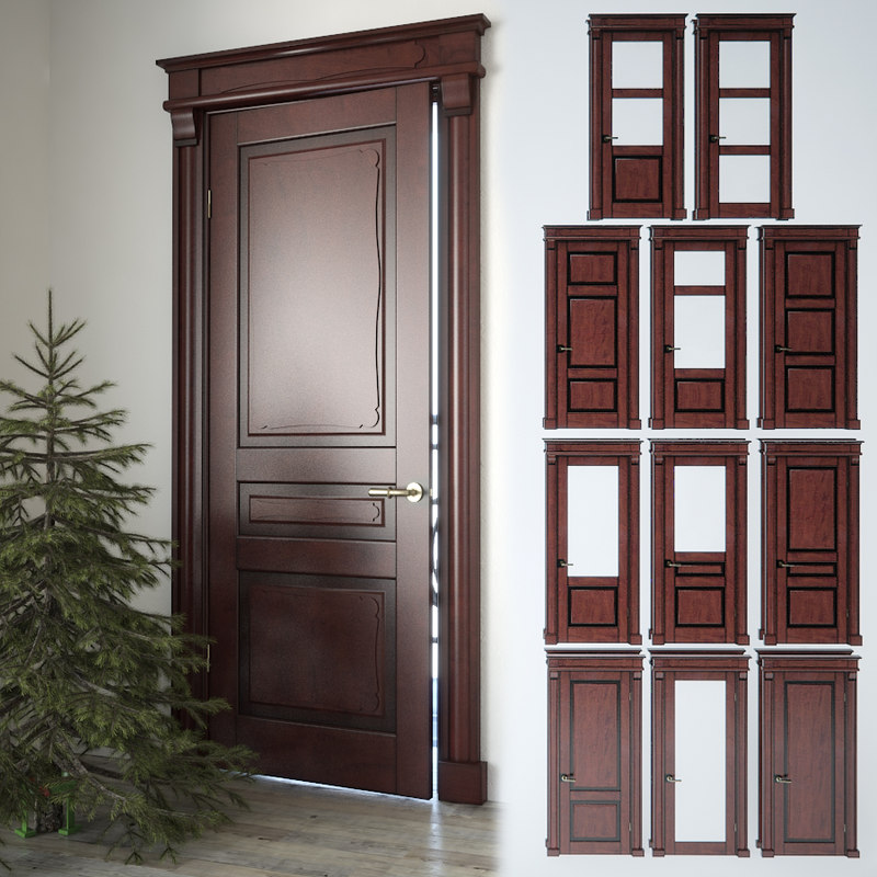 3d classic door fir