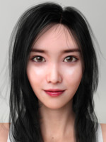 3d realistic korean beauty model