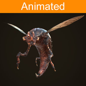 3d creature insect