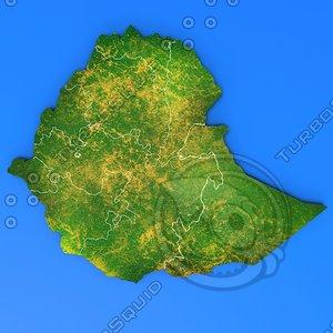 3d model ethiopia country