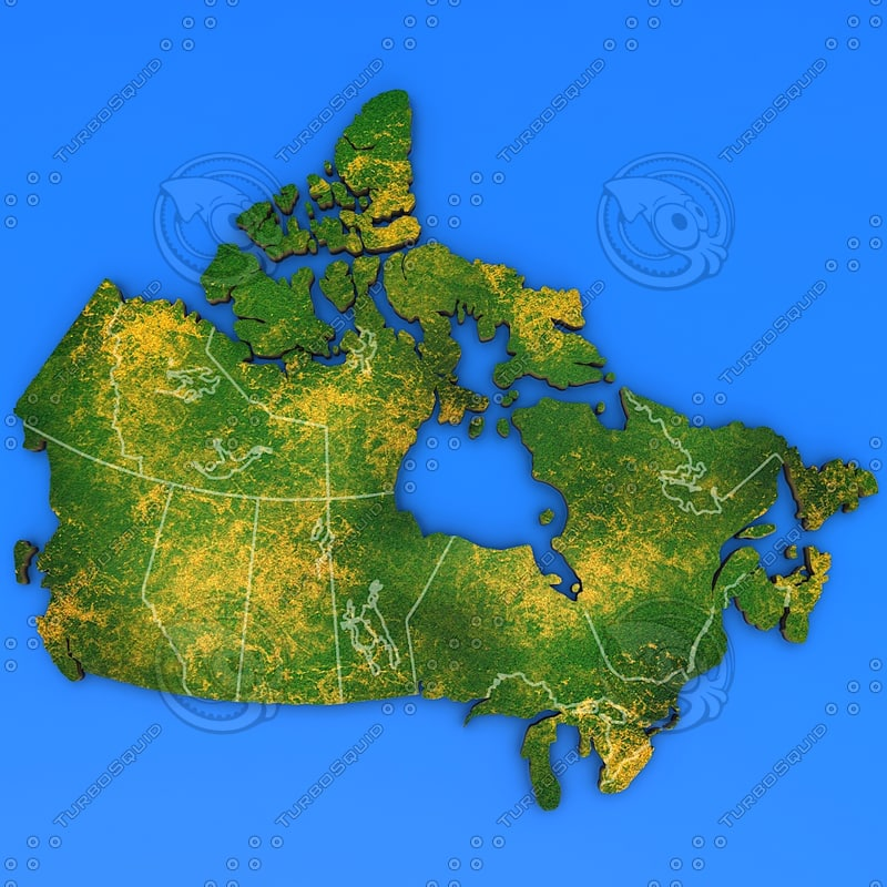 canada country 3d model