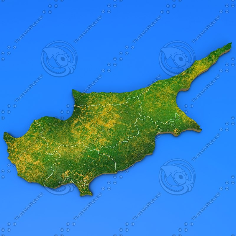 cyprus country obj