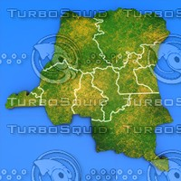 democratic republic congo country 3d model