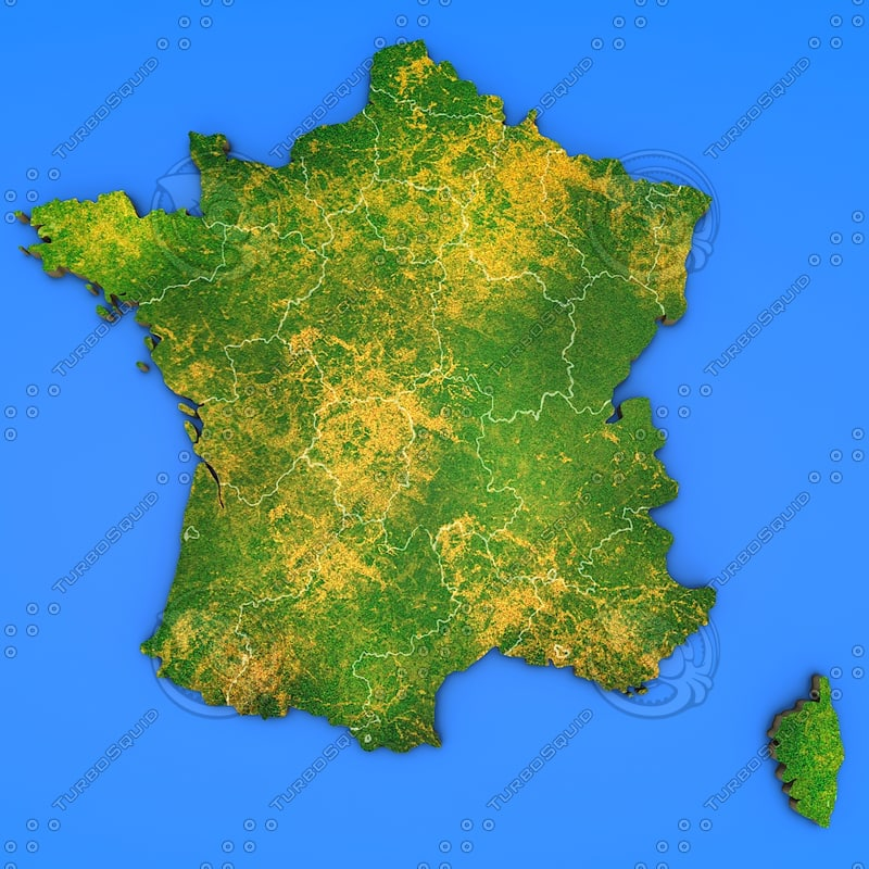 france country 3d max