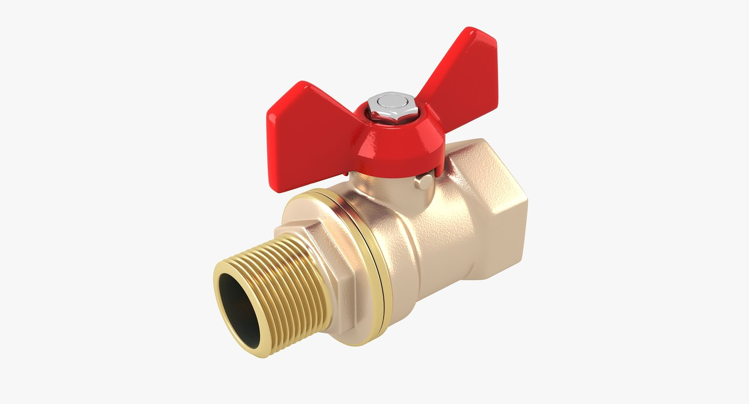 water valve 3d max