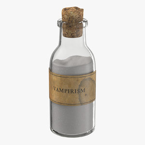 vampire hunter kit potion 3d model