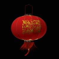 3d model chinese red lantern sphere