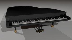 grand piano 3d ma
