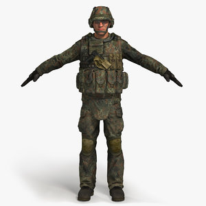 military male bundeswehr soldier 3d model