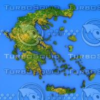 greece country 3d model
