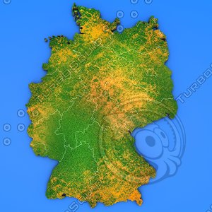 3d germany country model