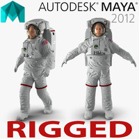 Astronaut Nasa Extravehicular Mobility Unit Rigged 2 for Maya