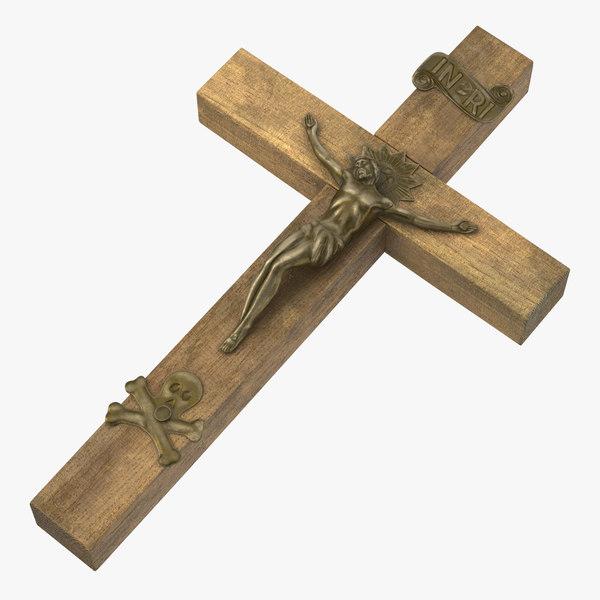 vampire hunter kit crucifix 3d model