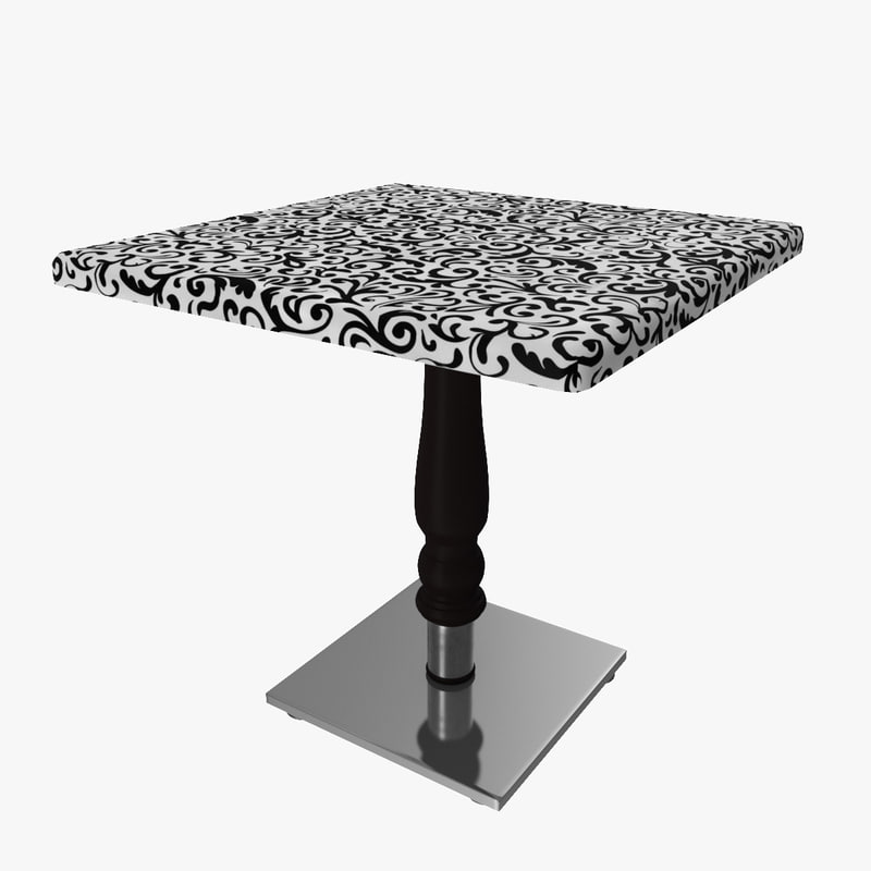 3d table modelled model