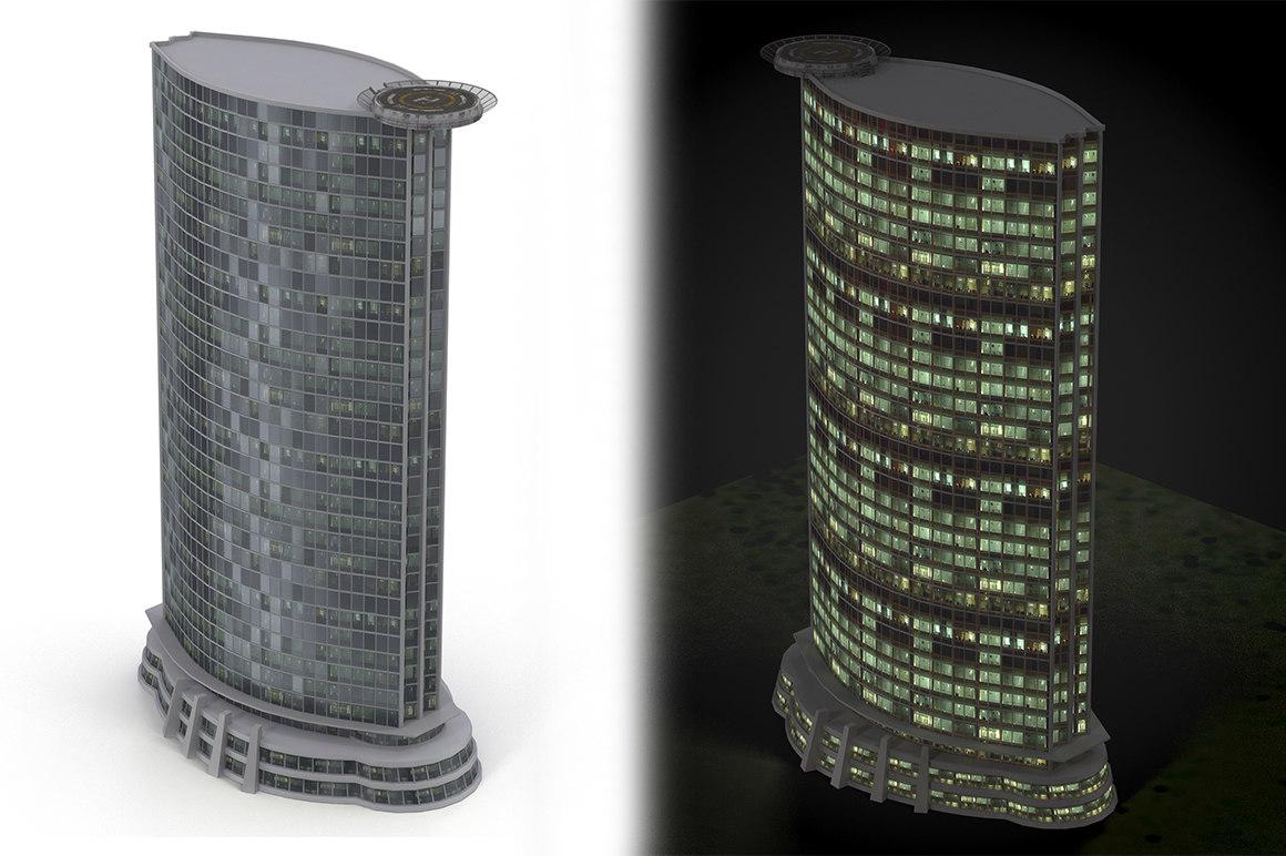 skyscraper cityscape 3d max