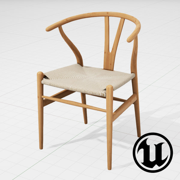 fbx unreal hans wegner wishbone chair