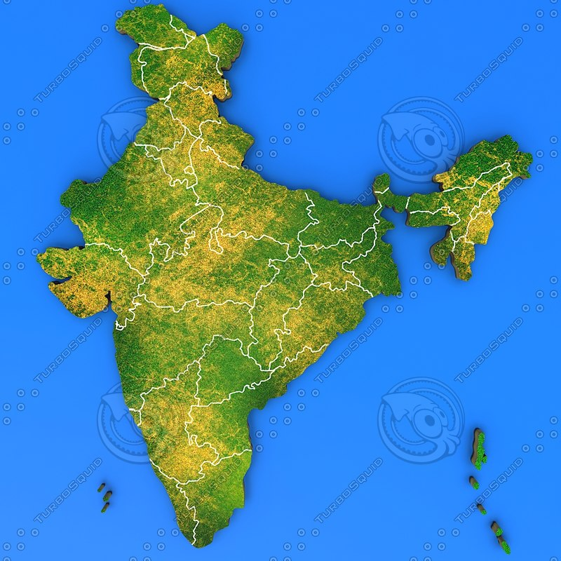 3d india country model