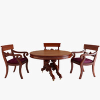 Victorian Circular Mahogany Extending Dining Table