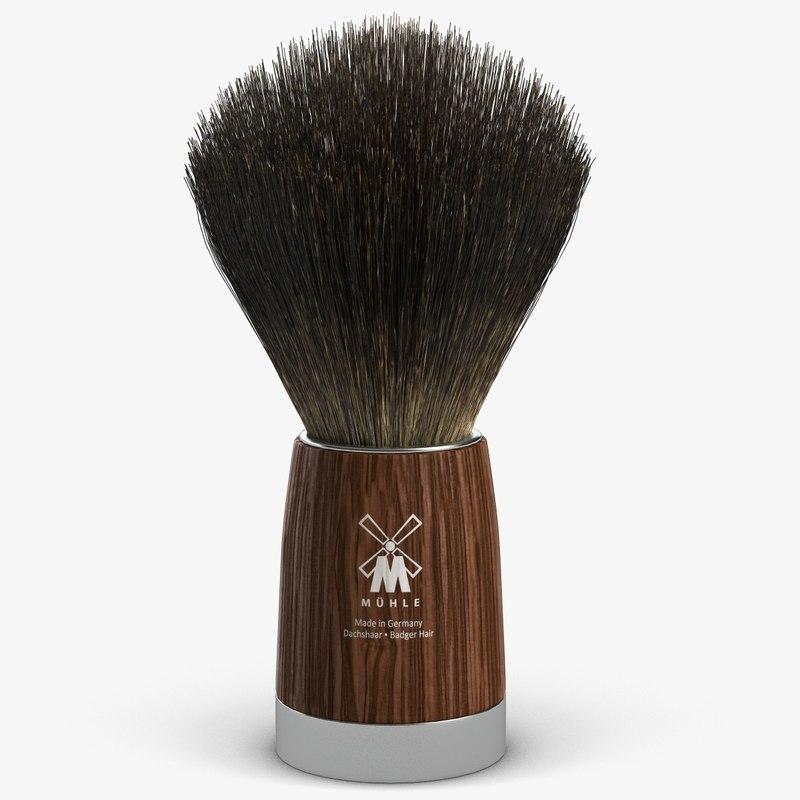 shaving brush 3d max
