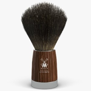 shaving brush 3d max