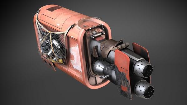 3d model star wars rey
