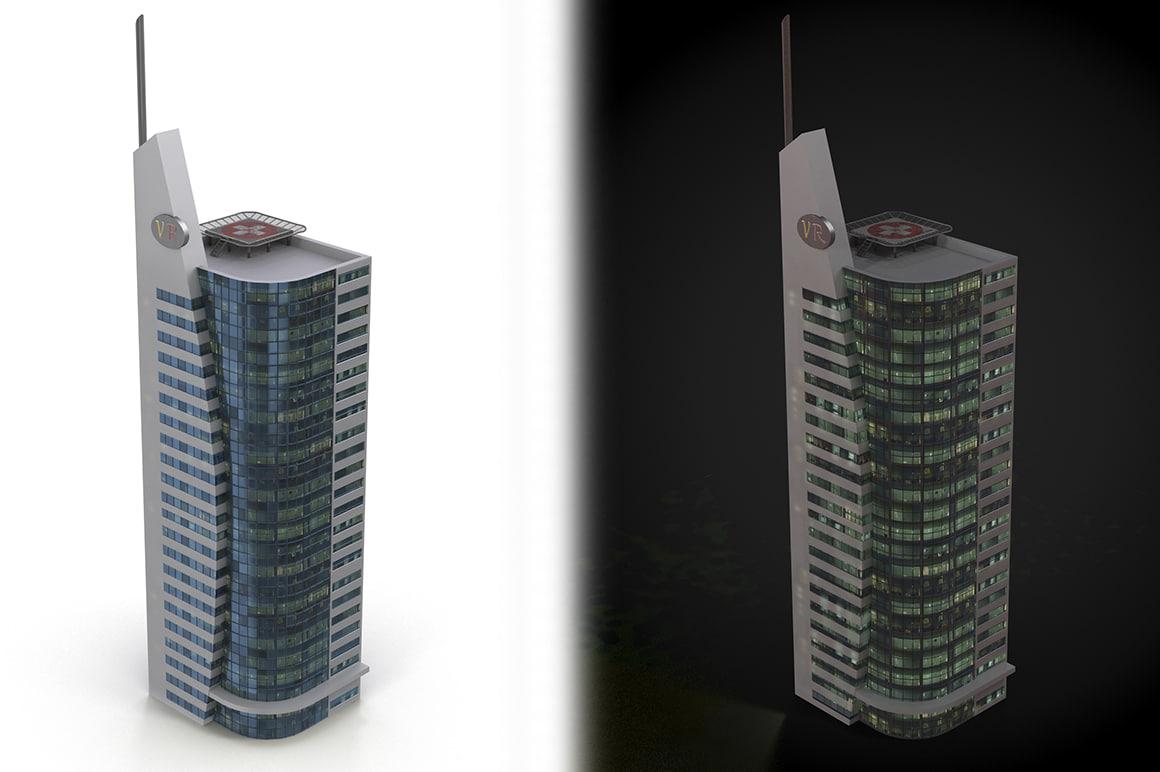 skyscraper ready cityscape 3d max