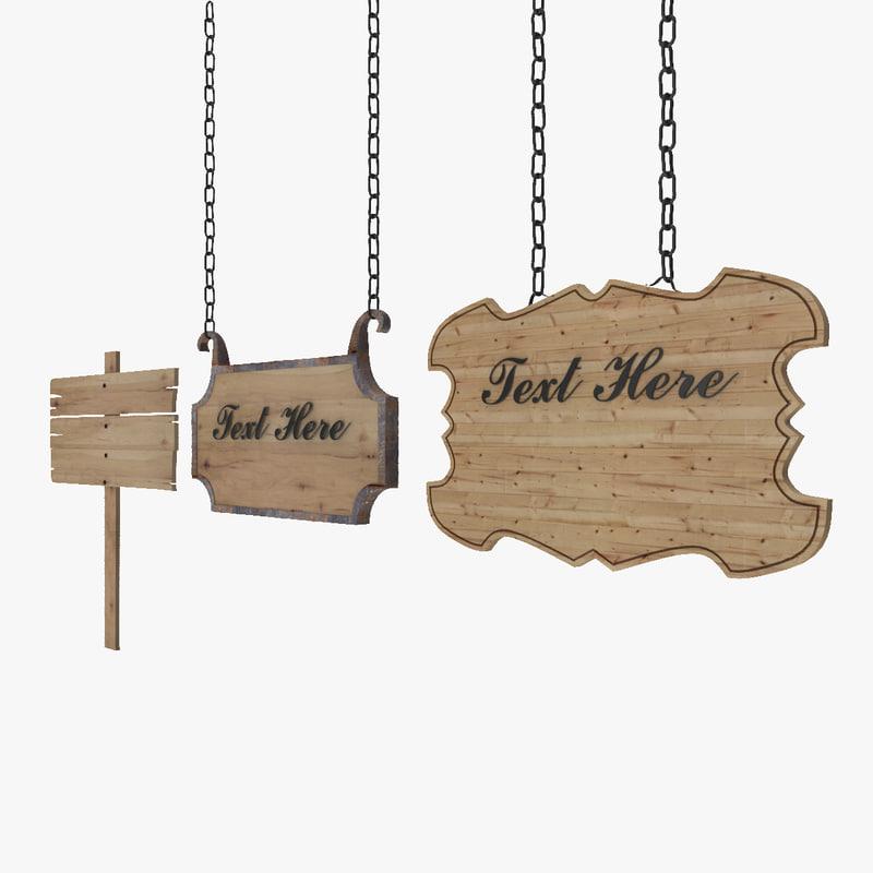 wood hanging panel 3d model
